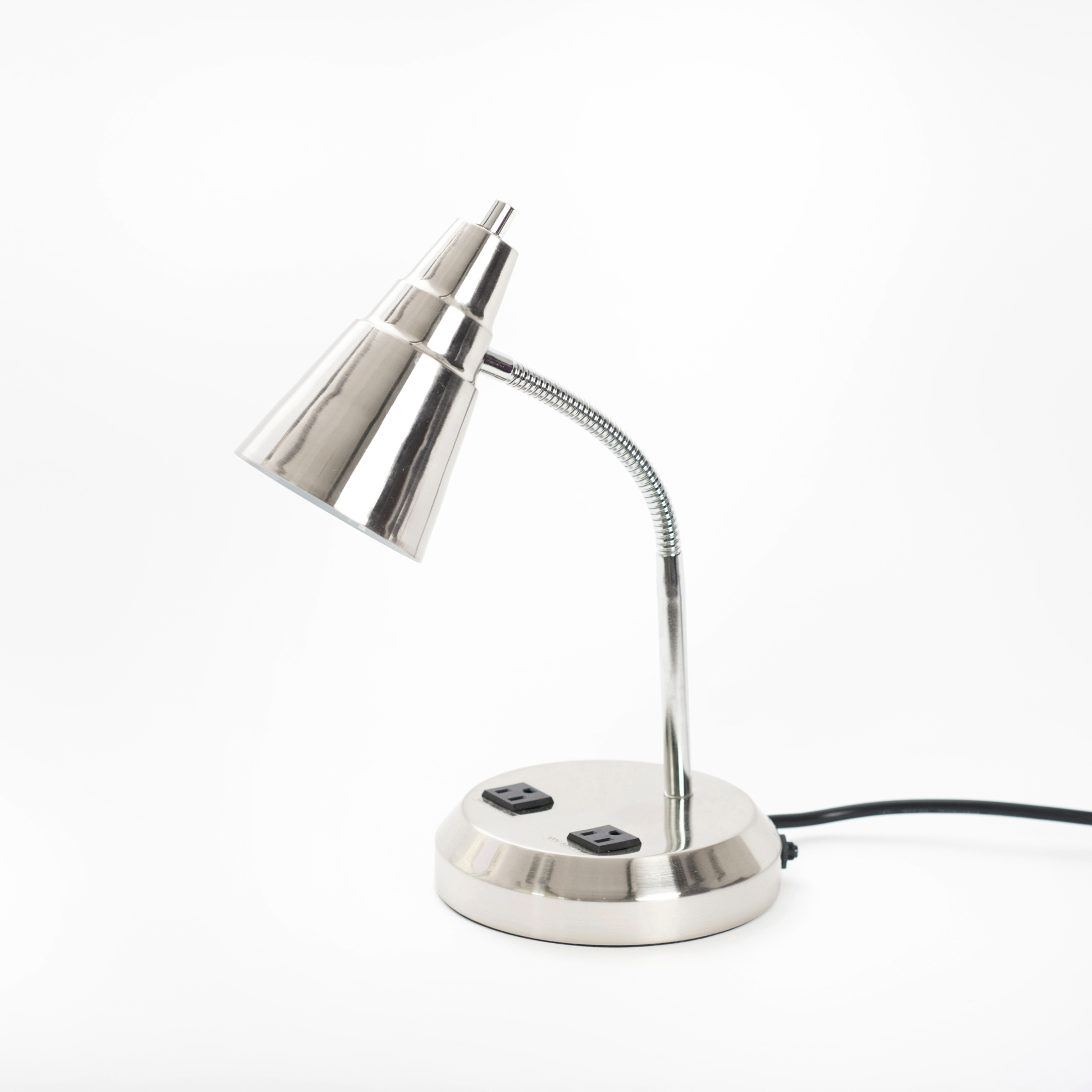 desk lamp with outlets 36 00 this desk lamp delivers two very. Black Bedroom Furniture Sets. Home Design Ideas