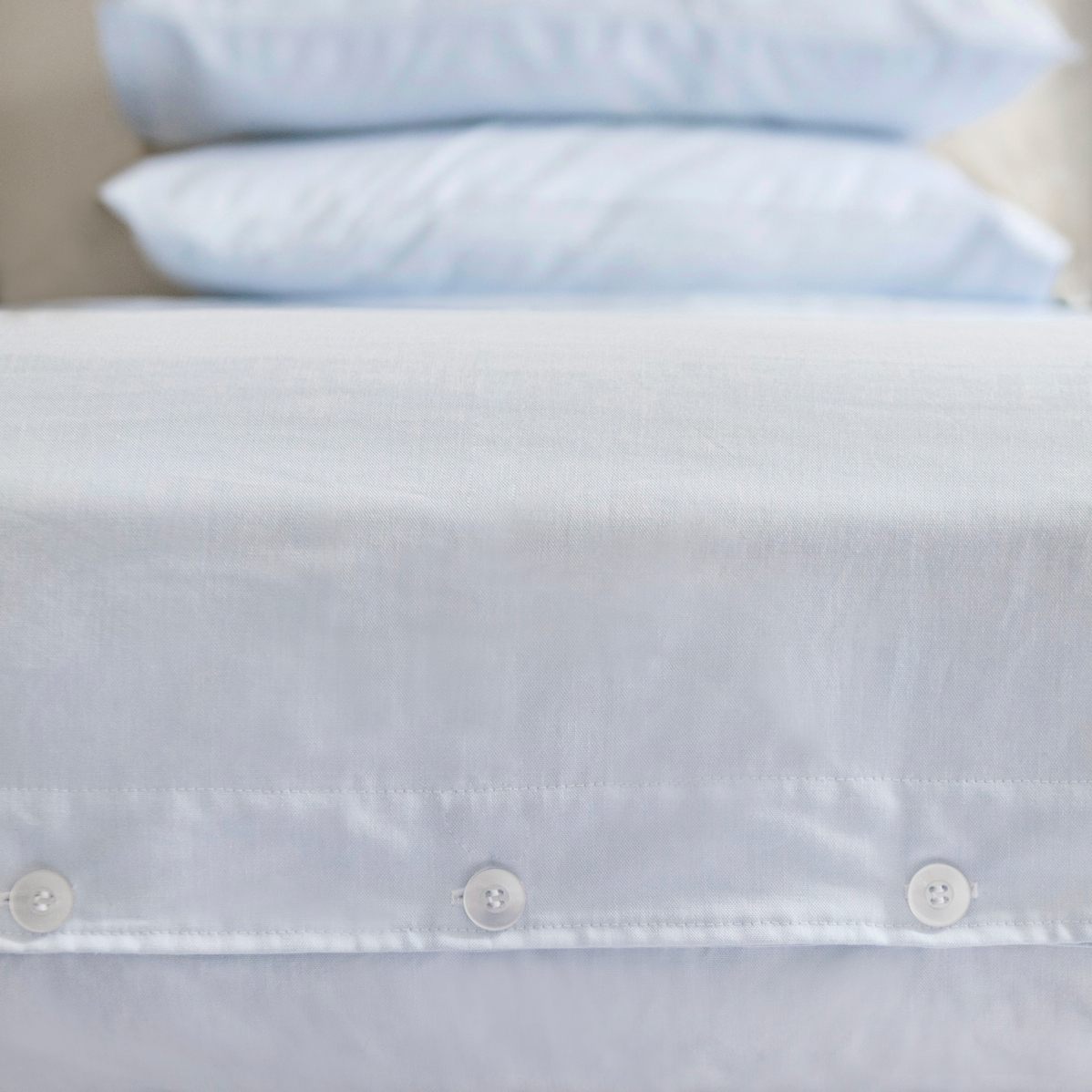 Charlie's Original Button-Down Sheet Set blue oxford stripe dorm room bedding