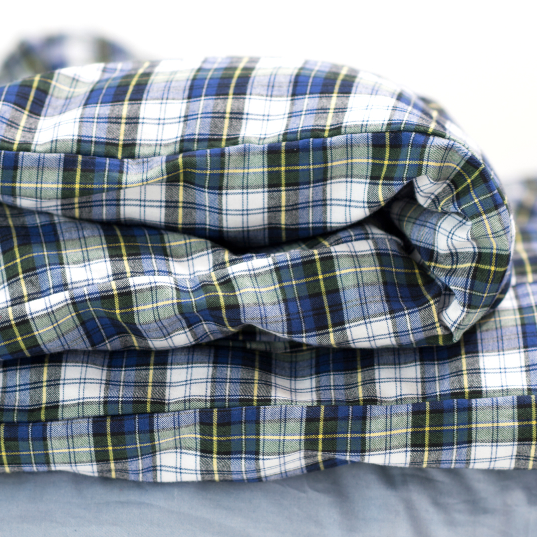 Charlie's Original Duvet Cover blue plaid dorm room bedding