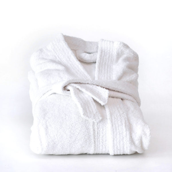 White Turkish cotton robe college dorm room supplies