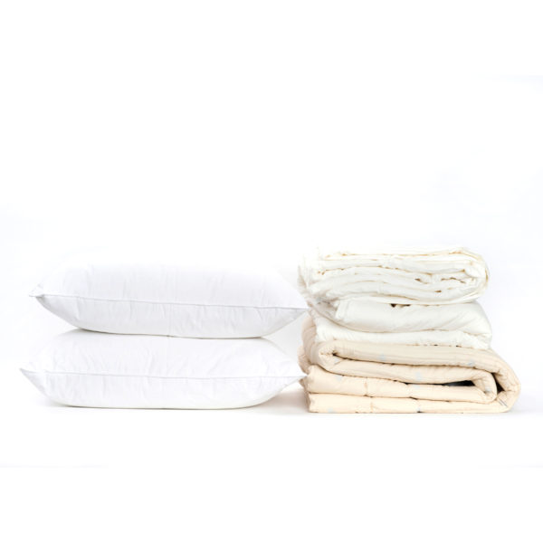 mattress pad, duvet insert, and two pillows Bedding Bundle